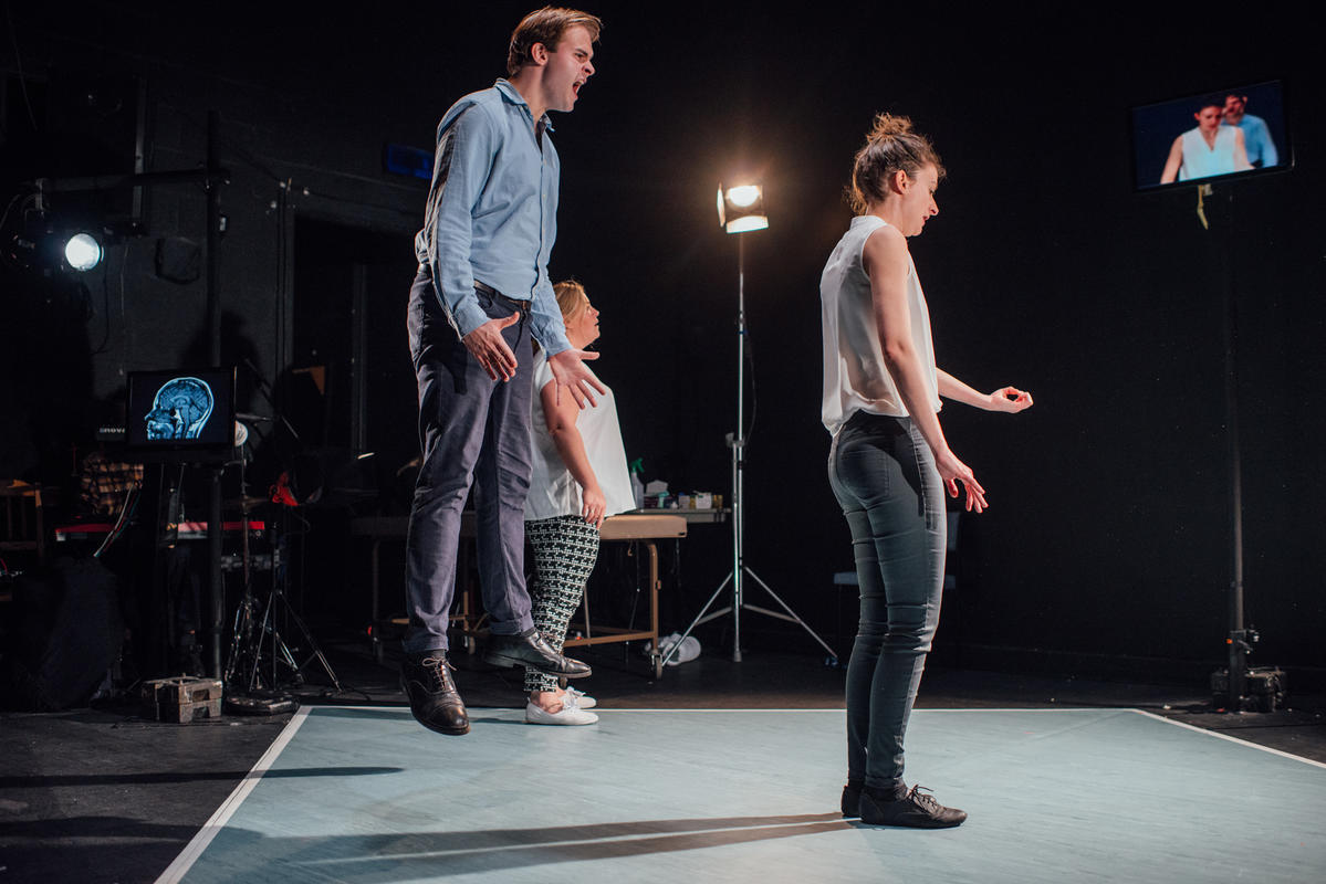 Photograph from Still Ill - lighting design by Joshua Gadsby