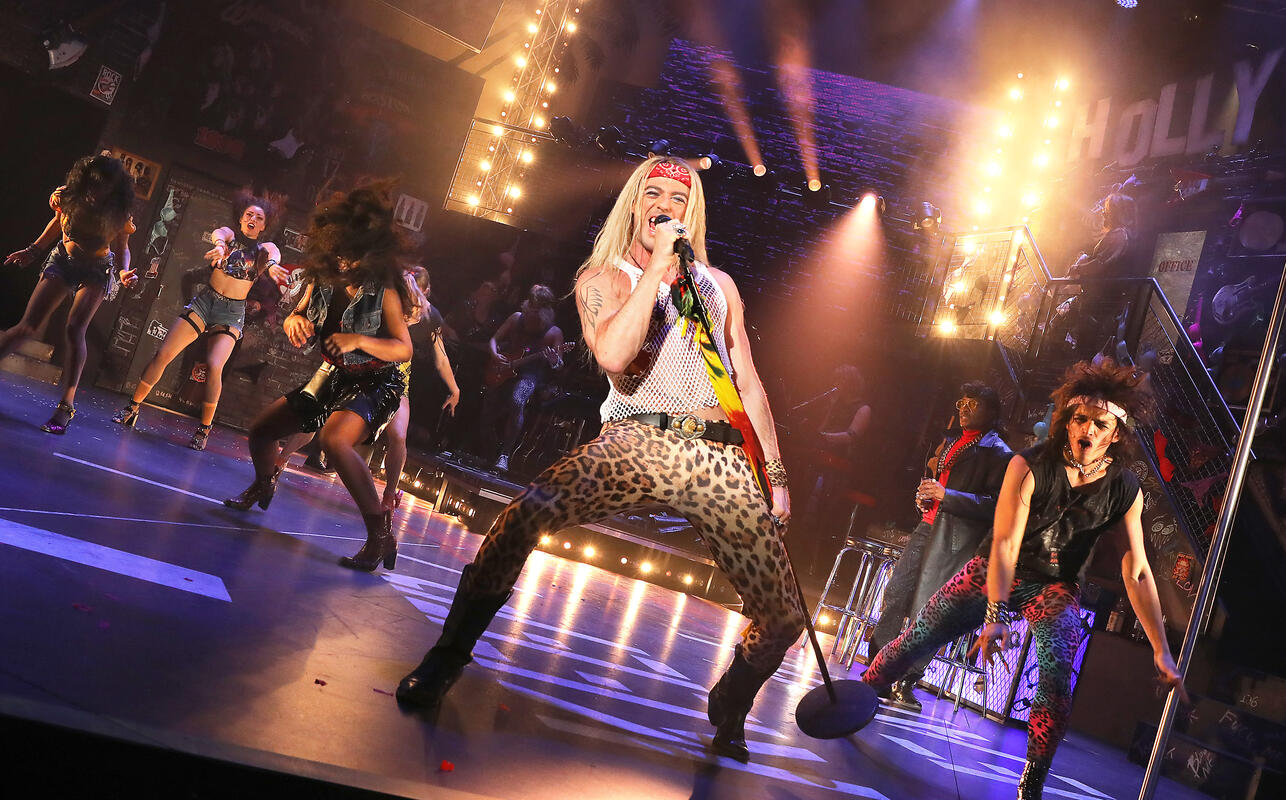 Photograph from Rock of Ages - lighting design by Andrew Voller
