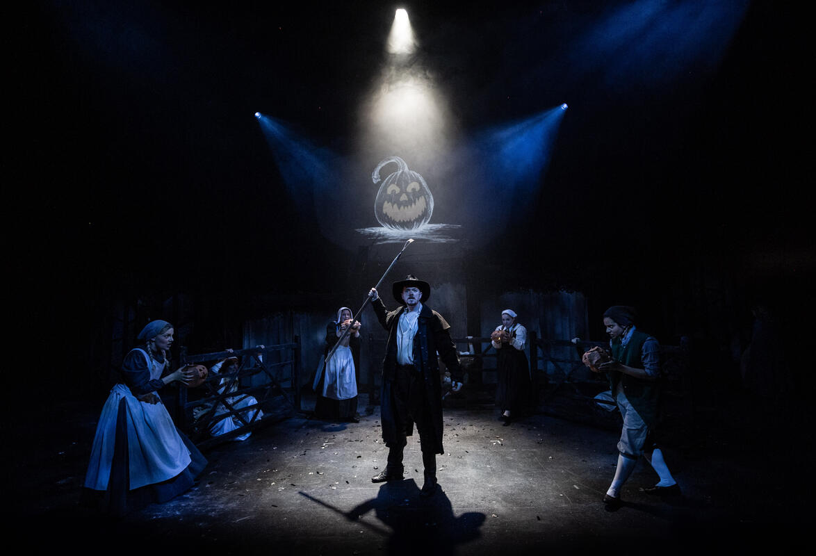 Photograph from The Legend Of Sleepy Hollow - lighting design by Johnathan Rainsforth