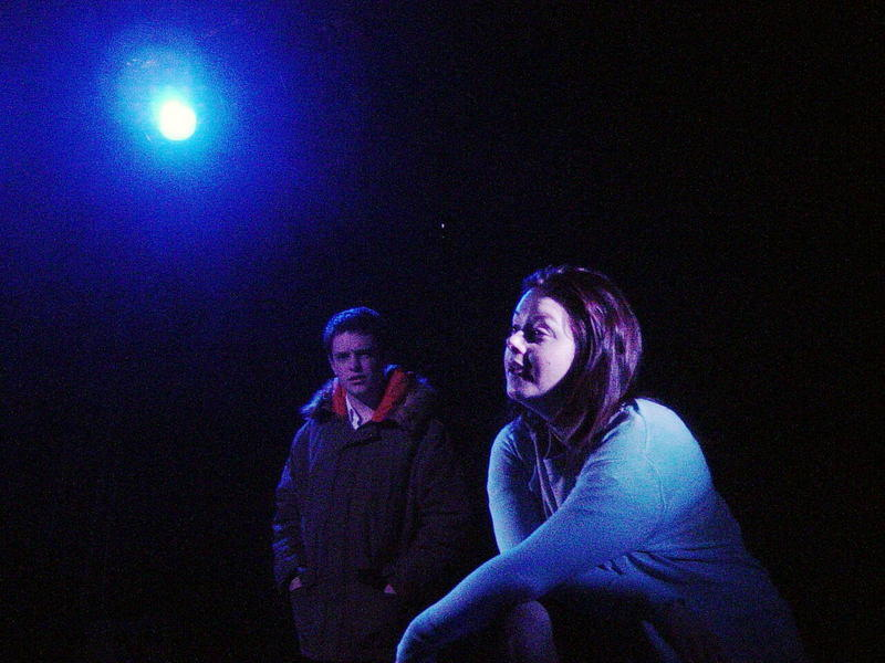 Photograph from The Shy Gas Man - lighting design by Ian Saunders