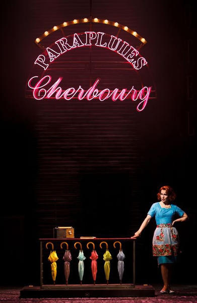 Photograph from The Umbrellas of Cherbourg - lighting design by Malcolm Rippeth