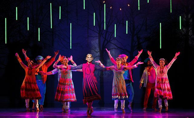 Photograph from Wah! Wah! Girls - lighting design by Malcolm Rippeth