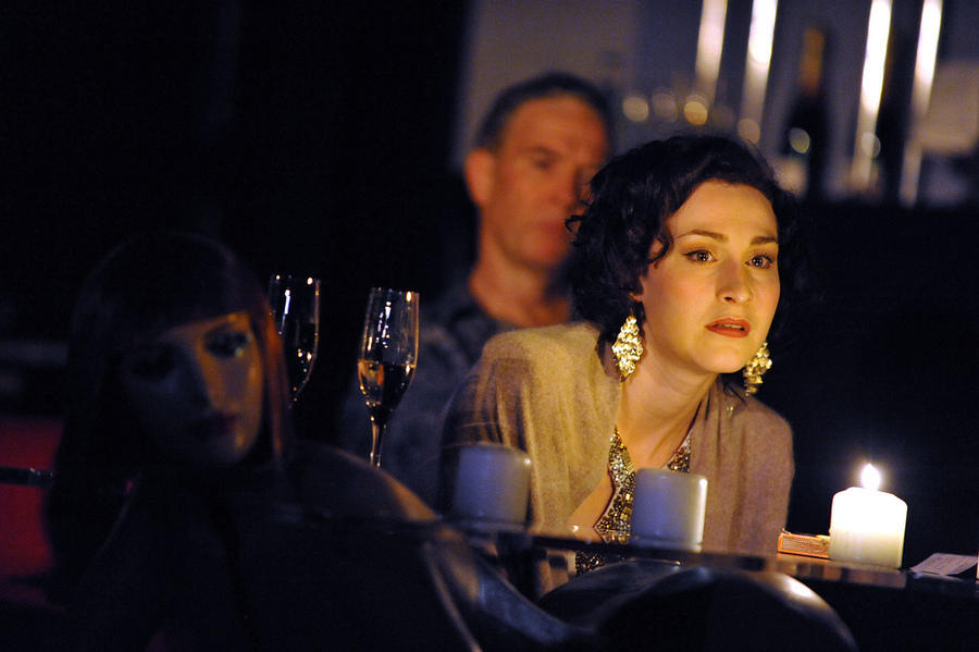 Photograph from Crash - lighting design by Malcolm Rippeth