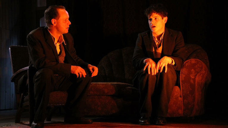 Photograph from The Devil Inside Him - lighting design by Malcolm Rippeth