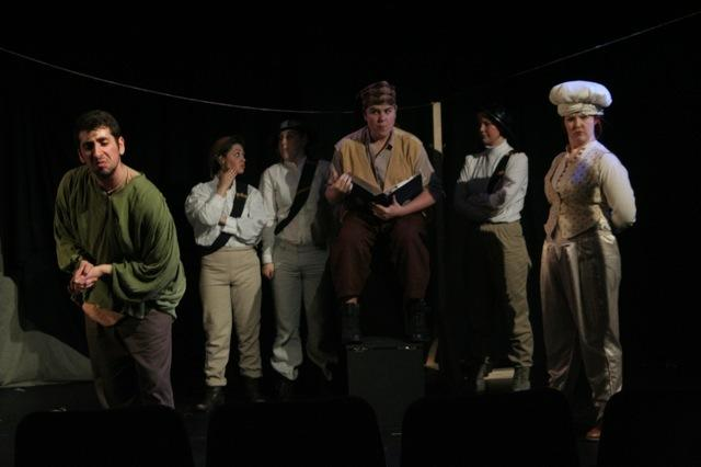 Photograph from The Caucasian Chalk Circle - lighting design by Edmund Sutton