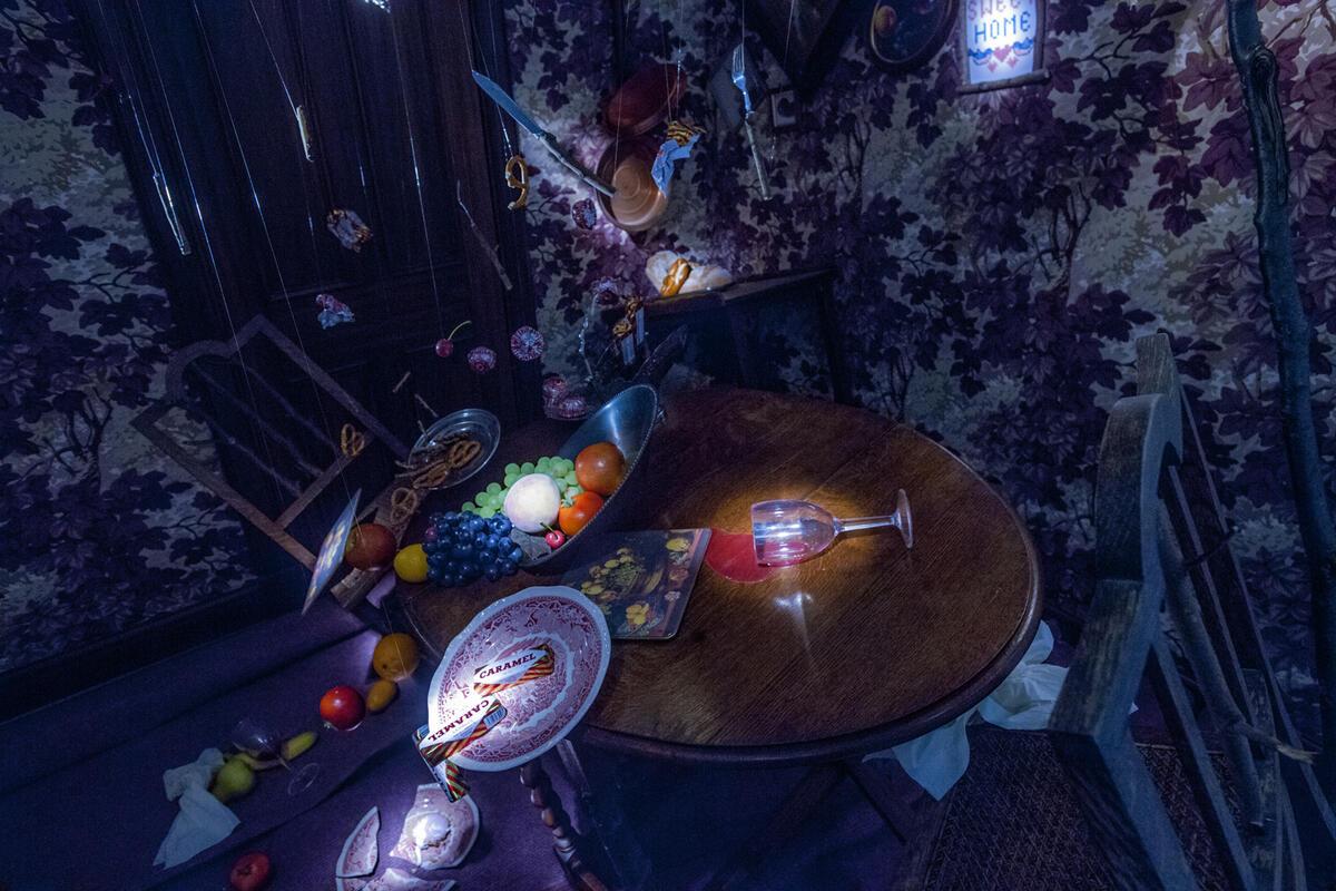 Photograph from HUFF - lighting design by Sergey Jakovsky