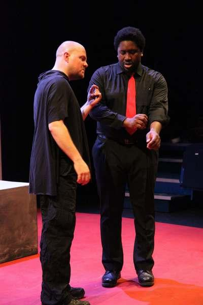 Photograph from Othello - lighting design by Kelli Zezulka