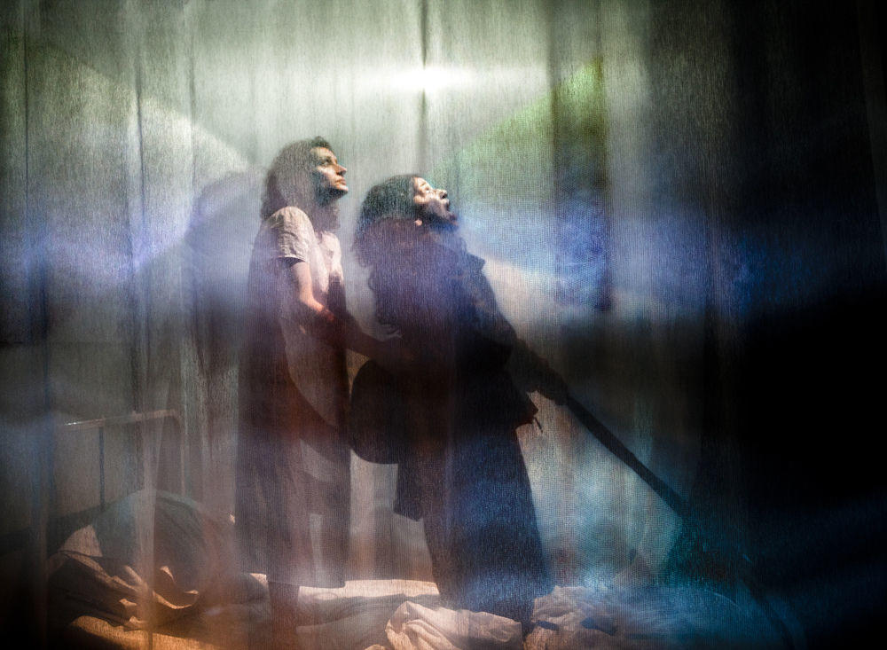 Photograph from Mare Rider - lighting design by Richard Williamson