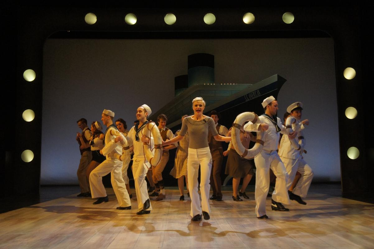 Photograph from Anything Goes - lighting design by Ben Pickersgill