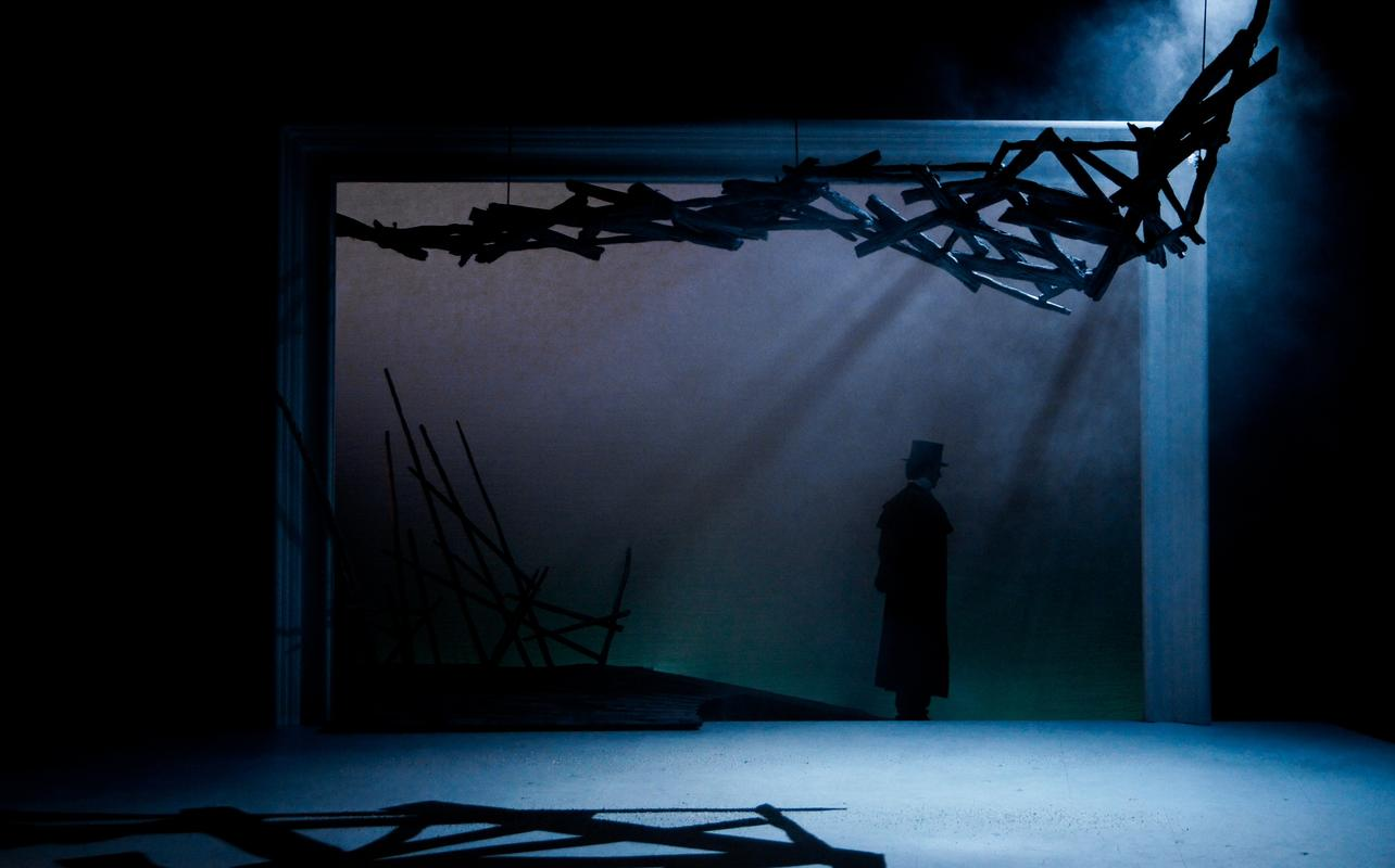 Photograph from Eugene Onegin - lighting design by Jake Wiltshire