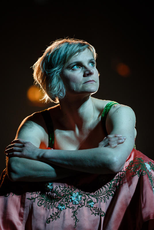 Photograph from Tristan and Yseult - lighting design by Malcolm Rippeth