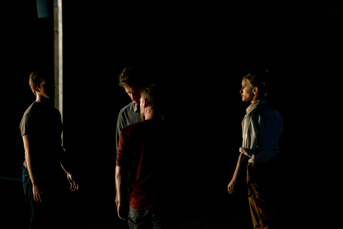 Photograph from Ours was the Fen Country - lighting design by Malcolm Rippeth