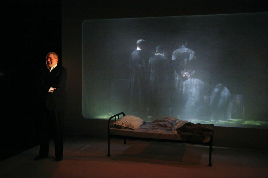 Photograph from The Lovesong of Alfred J Hitchcock - lighting design by Azusa Ono