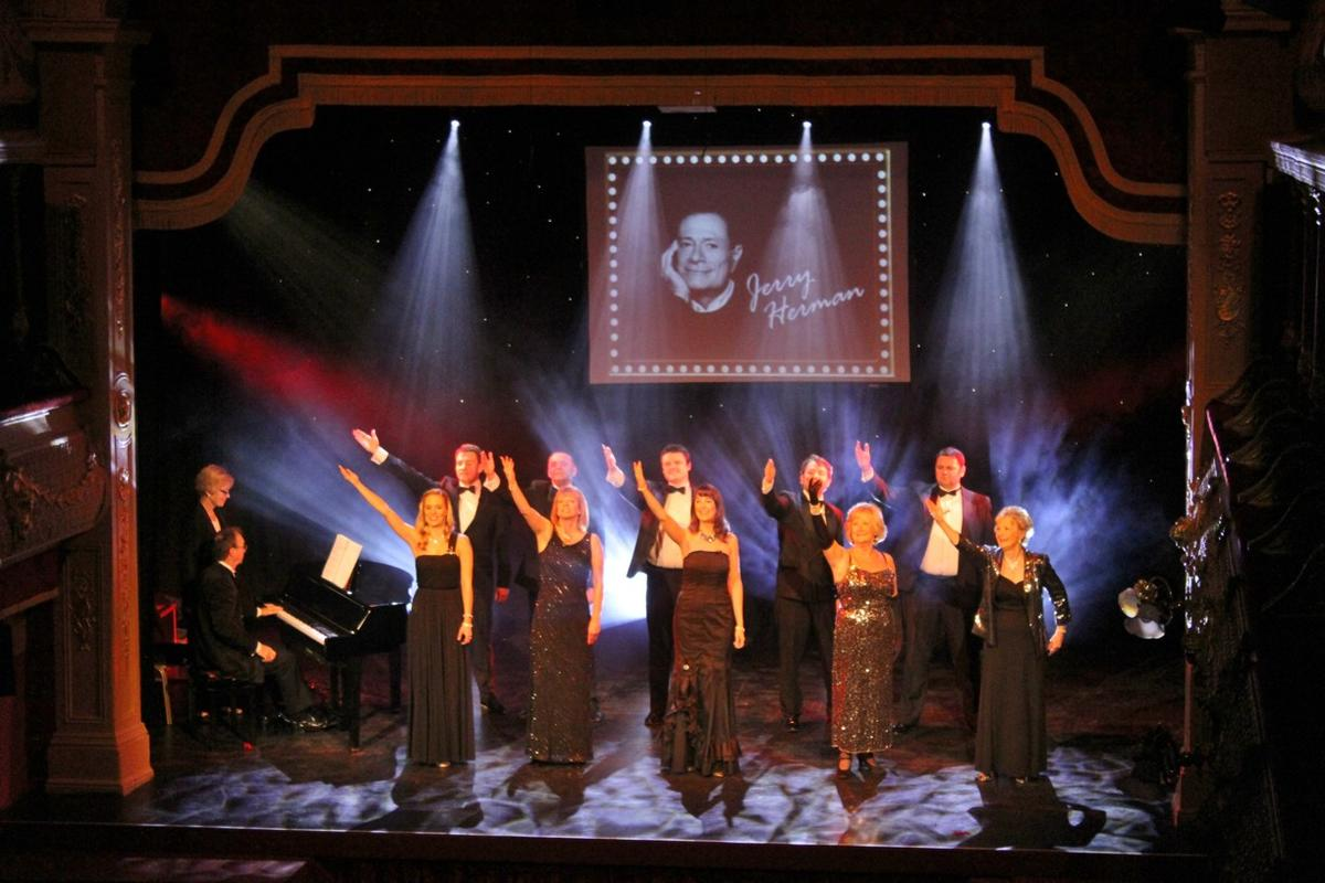 Photograph from Jerry Hermans Showtunes - lighting design by Jason Salvin