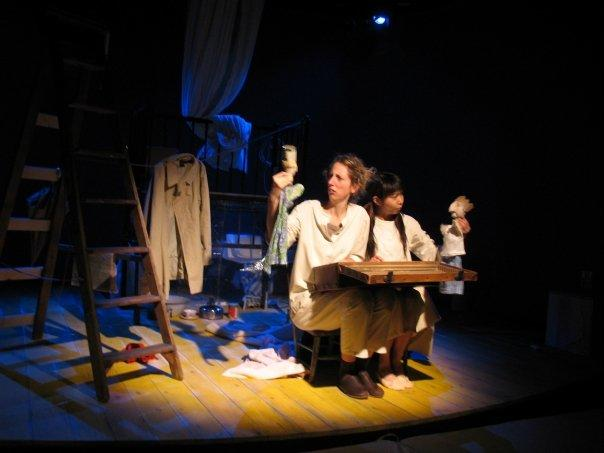 Photograph from Princess and The Pea - lighting design by Chris Barham