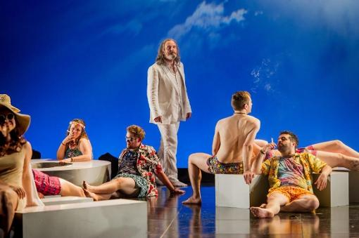 Photograph from Orfeo ed Euridice - lighting design by Malcolm Rippeth