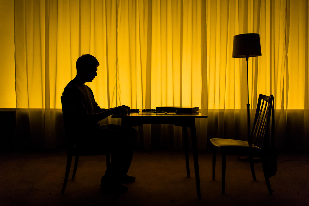 Photograph from Not the Worst Place - lighting design by Malcolm Rippeth