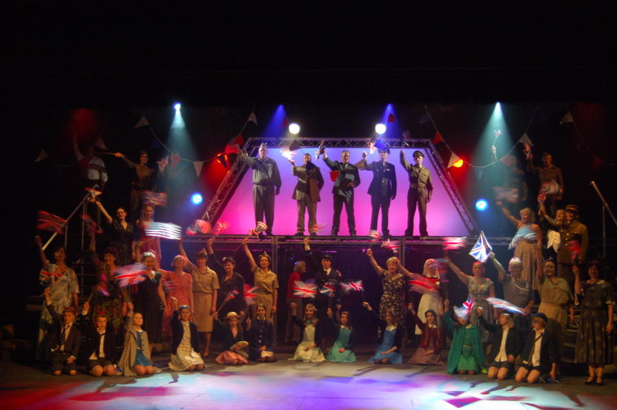 Photograph from When The Lights Go On Again - lighting design by Pete Watts