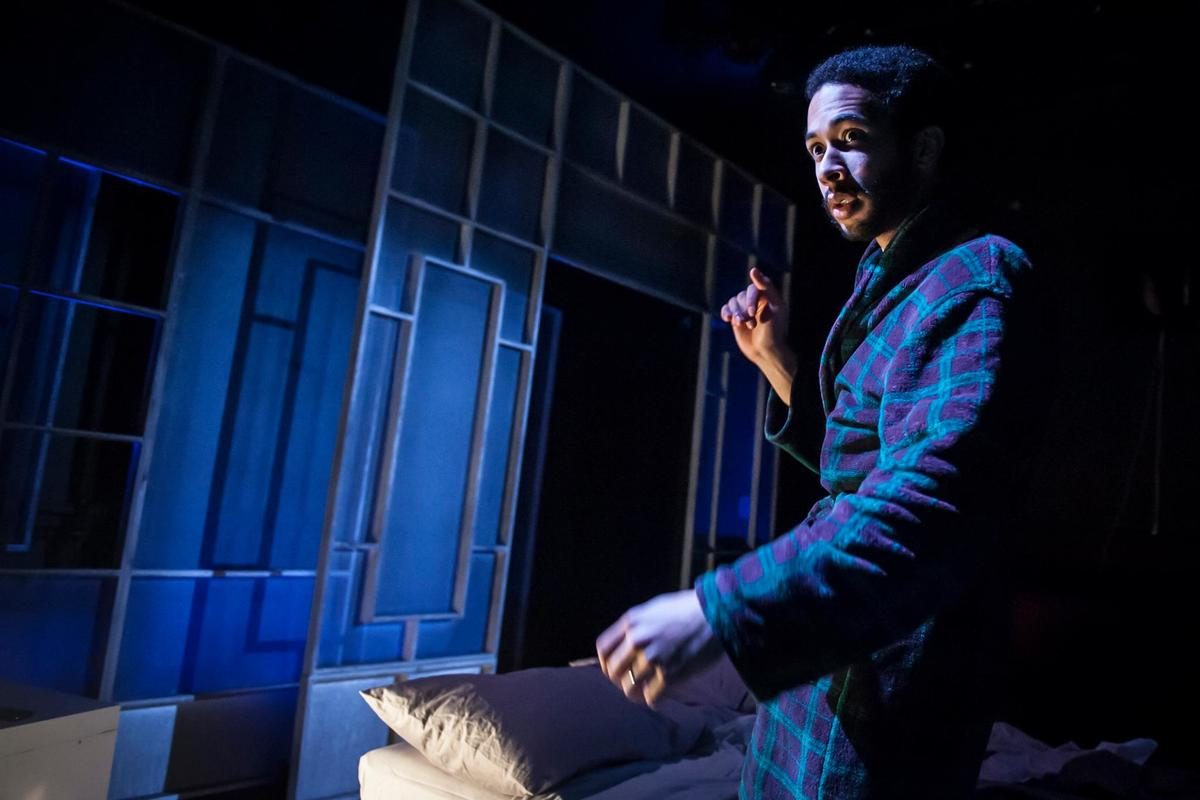 Photograph from Don't Smoke In Bed - lighting design by Robbie Butler
