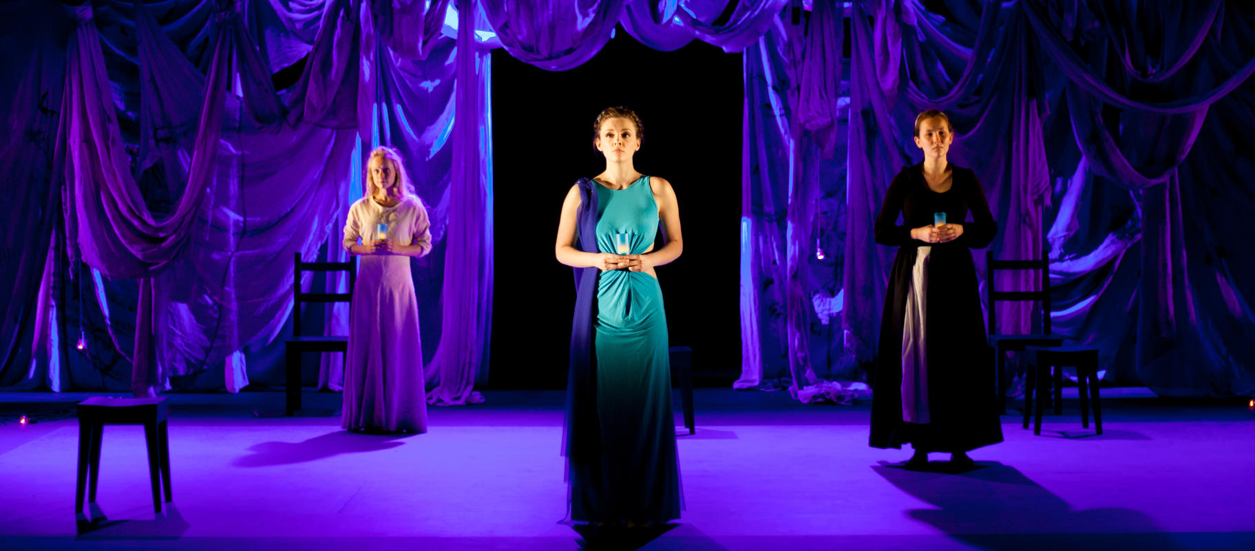 Photograph from The Rape of Lucretia - lighting design by Jake Wiltshire