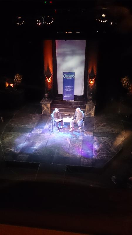 Photograph from Talking Head - an evening with Pete Townshend - lighting design by Nigel Lewis