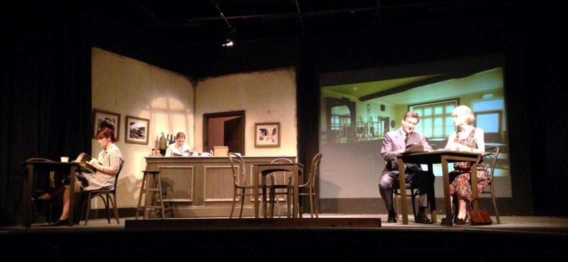 Photograph from Brief Encounters - lighting design by Jason Salvin