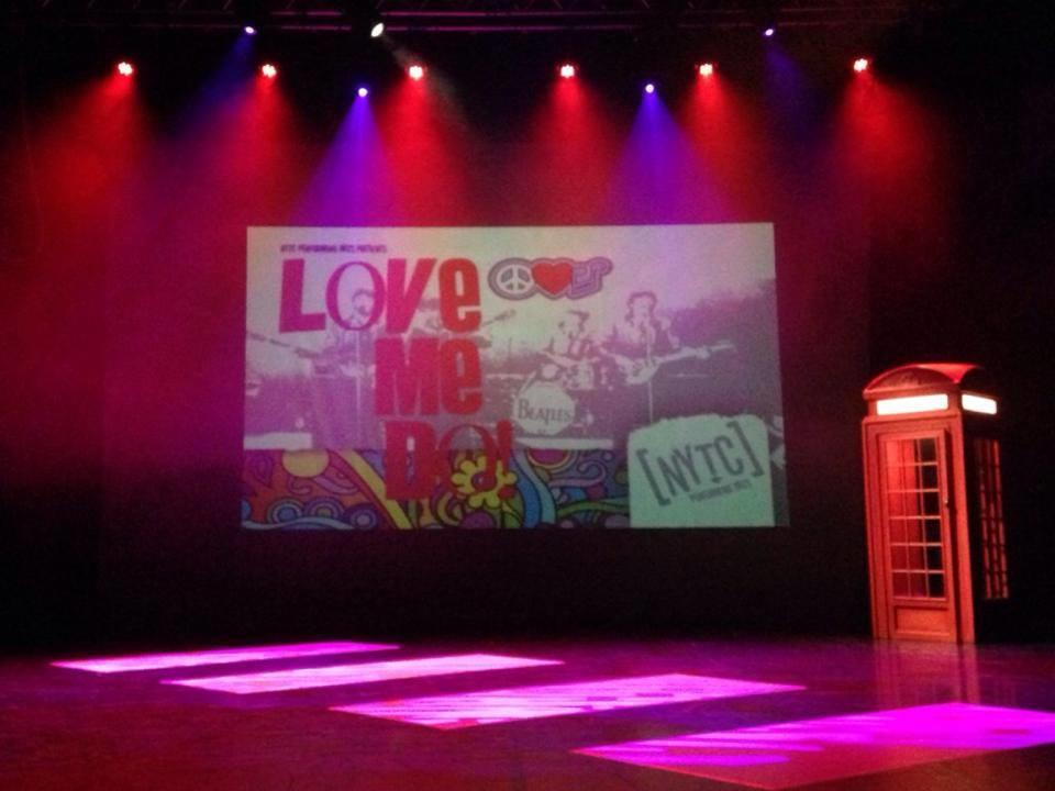 Photograph from Love Me Do - lighting design by Jason Salvin