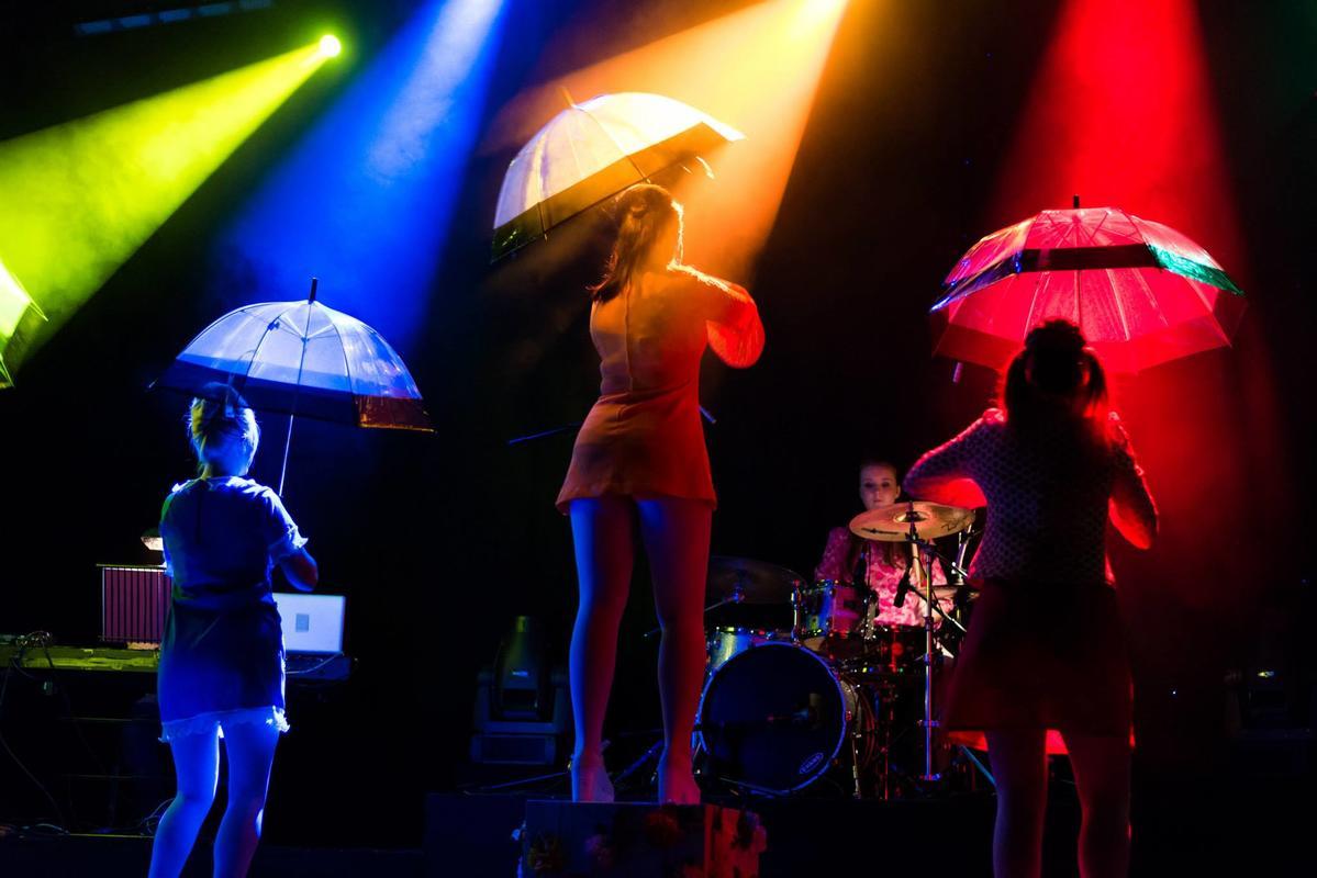 Photograph from SHOUT! - The MOD Musical - lighting design by Adam Murdoch