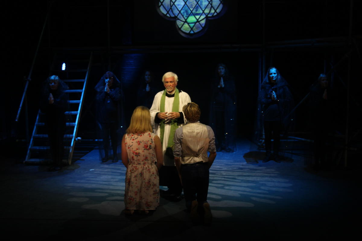 Photograph from Romeo and Juliet - lighting design by Andy Webb