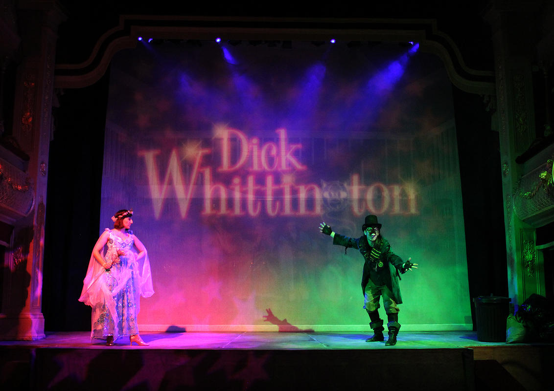 Photograph from Dick Whittington - lighting design by Jason Salvin