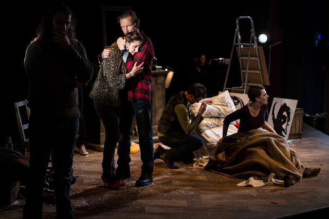 Photograph from La Boheme - lighting design by Will Evans