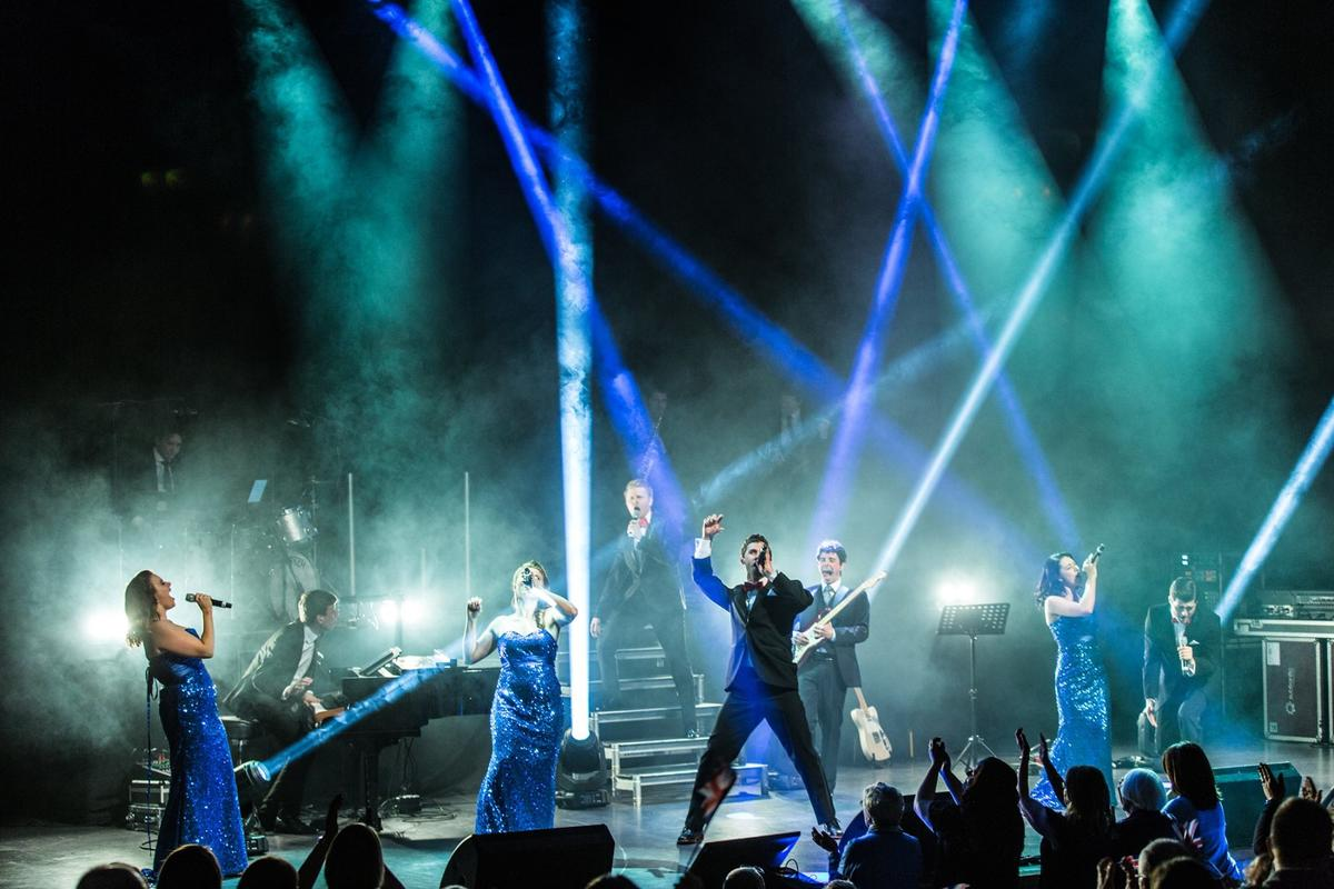 Photograph from The Knights of Music - lighting design by grahamrobertslx