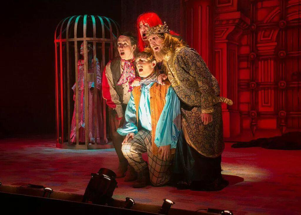 Photograph from Jack and the Beanstalk - lighting design by Nigel Lewis