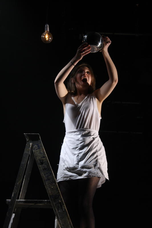 Photograph from Phases of Her - lighting design by Kiaran Kesby