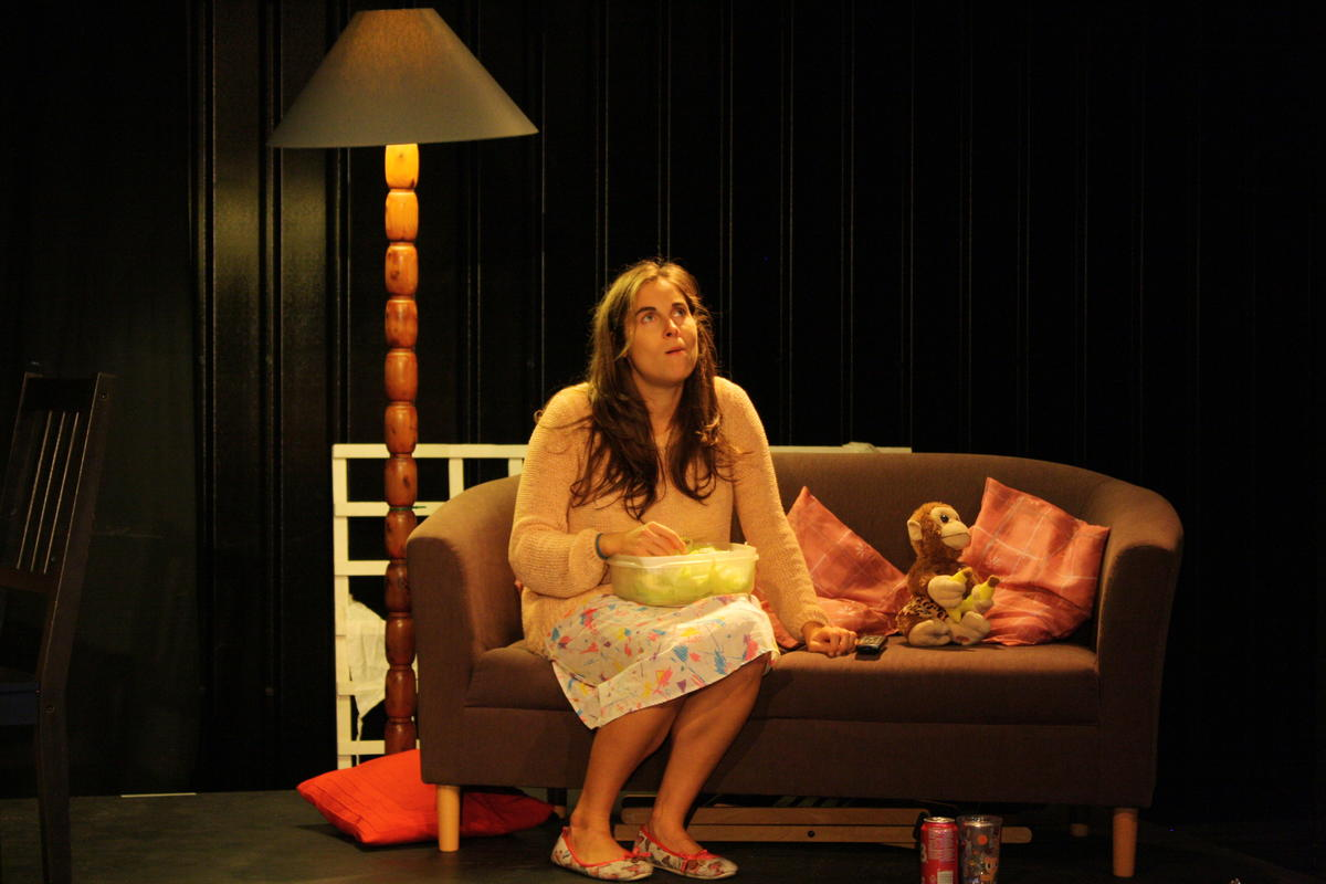 Photograph from Win/Lose/Draw - lighting design by Kiaran Kesby
