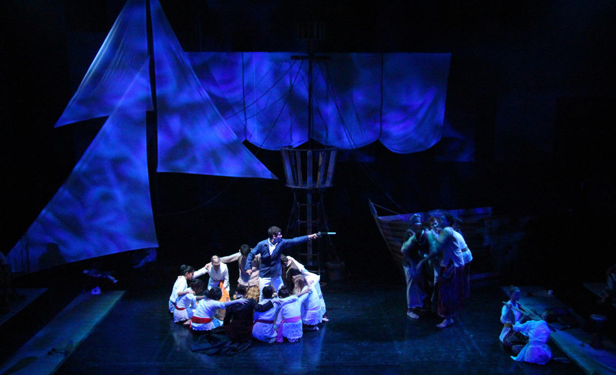 Photograph from Nation - lighting design by Manuel Garrido Freire
