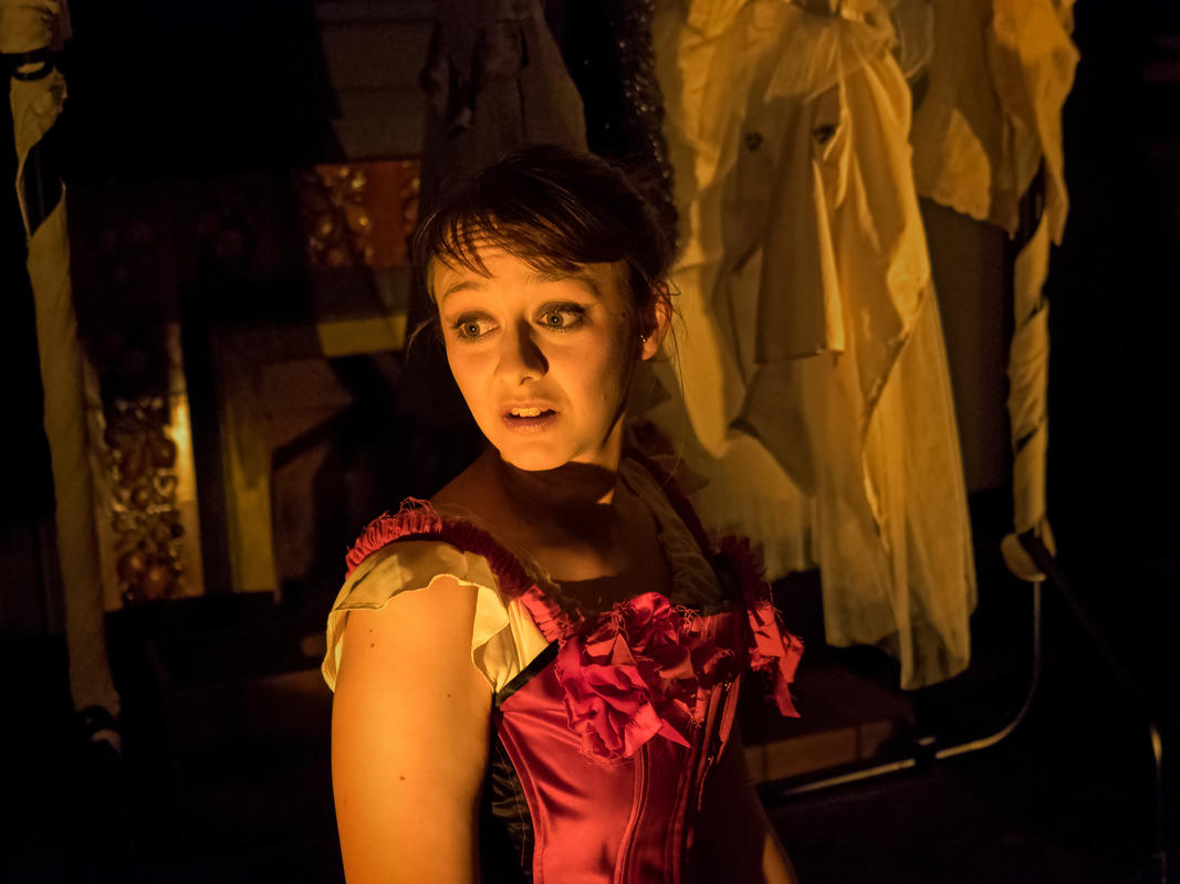 Photograph from The Maids - lighting design by Kelli Zezulka