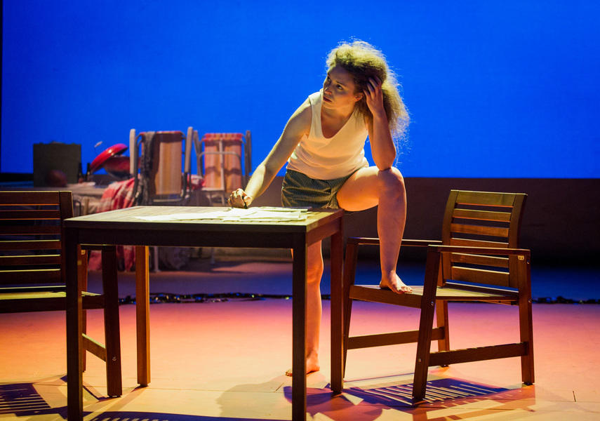 Photograph from Short Life of Trouble/Red Cross/Icarus' Mother - lighting design by Charlie Morgan Jones