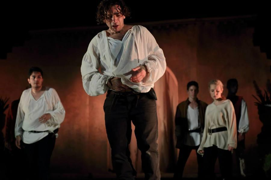 Photograph from Romeo and Juliet - lighting design by Chris Gatt