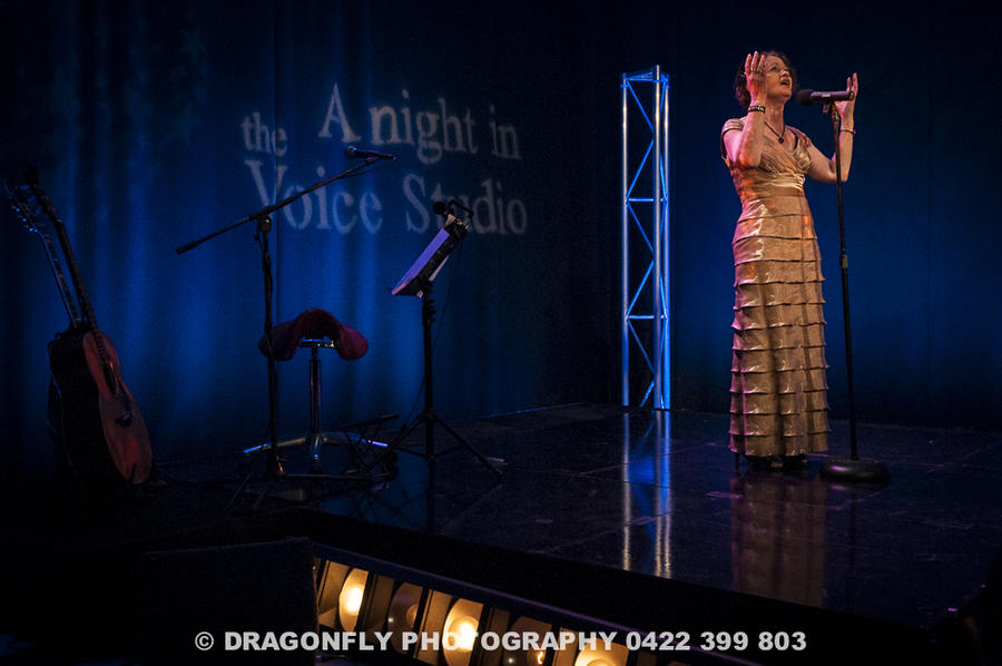 Photograph from A Night in the Voice Studio - Television - lighting design by Wally Eastland