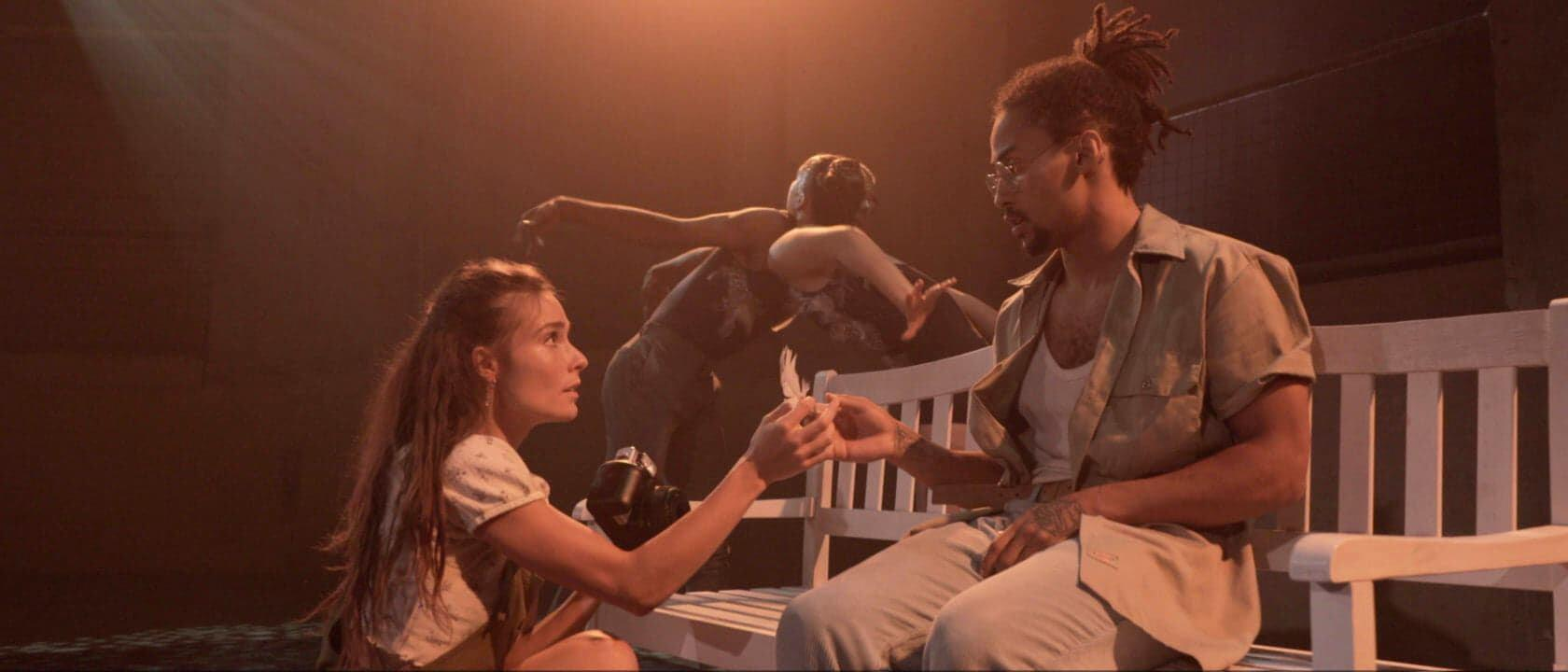 Photograph from Wait For Me - lighting design by Matthew Carnazza