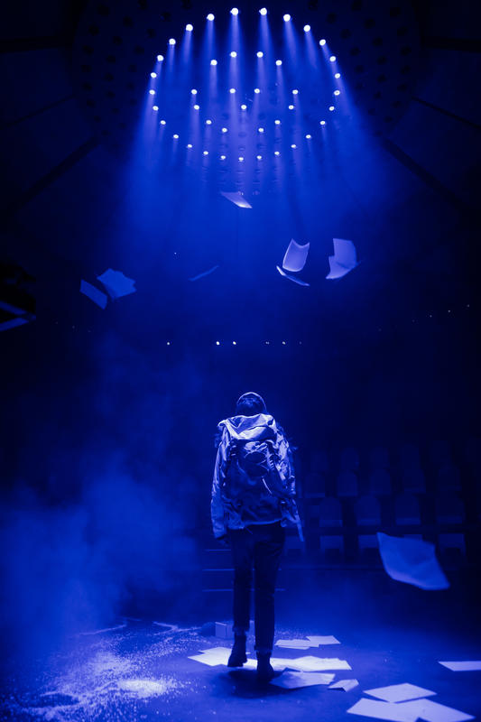 Photograph from I'm Not Here Right Now - lighting design by Amy Mae
