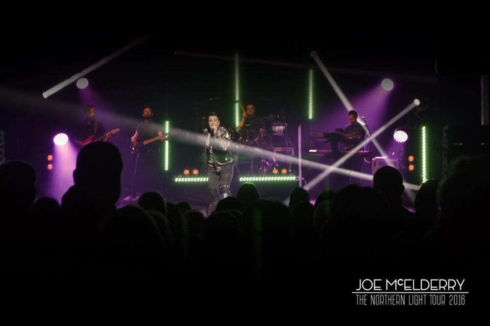 Photograph from Joe McElderry - Northern Lights Tour - lighting design by grahamrobertslx