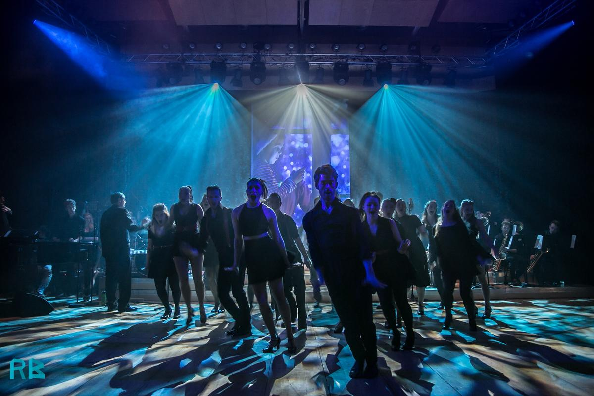 Photograph from Swingin' Into Christmas - lighting design by Grant Anderson