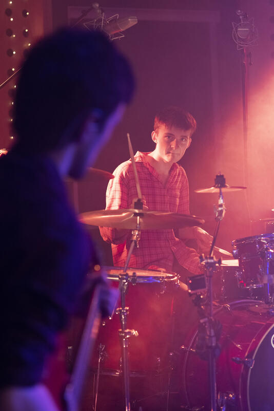 Photograph from Green Tangerines - Live Session - lighting design by edd knight