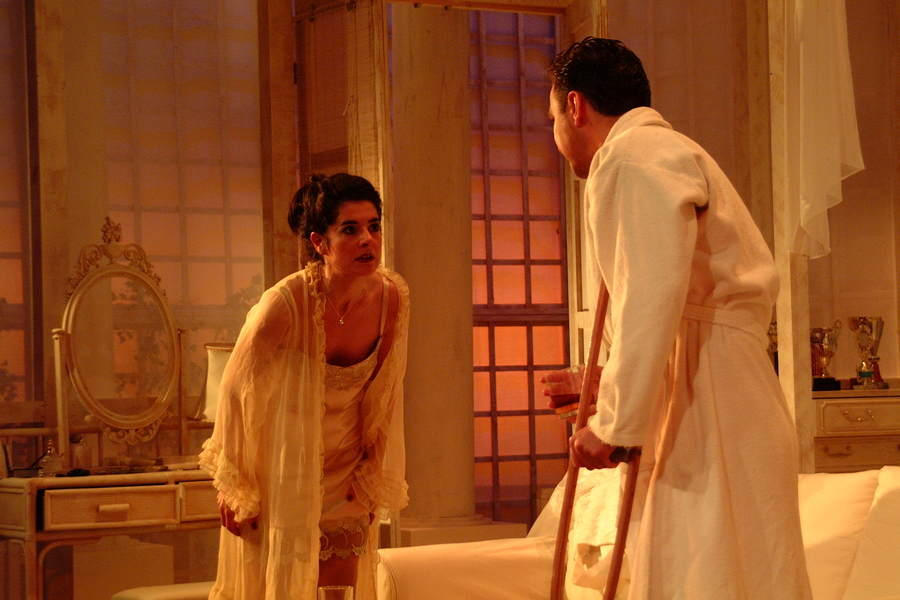 Photograph from Cat on a Hot Tin Roof - lighting design by Simon Wilkinson