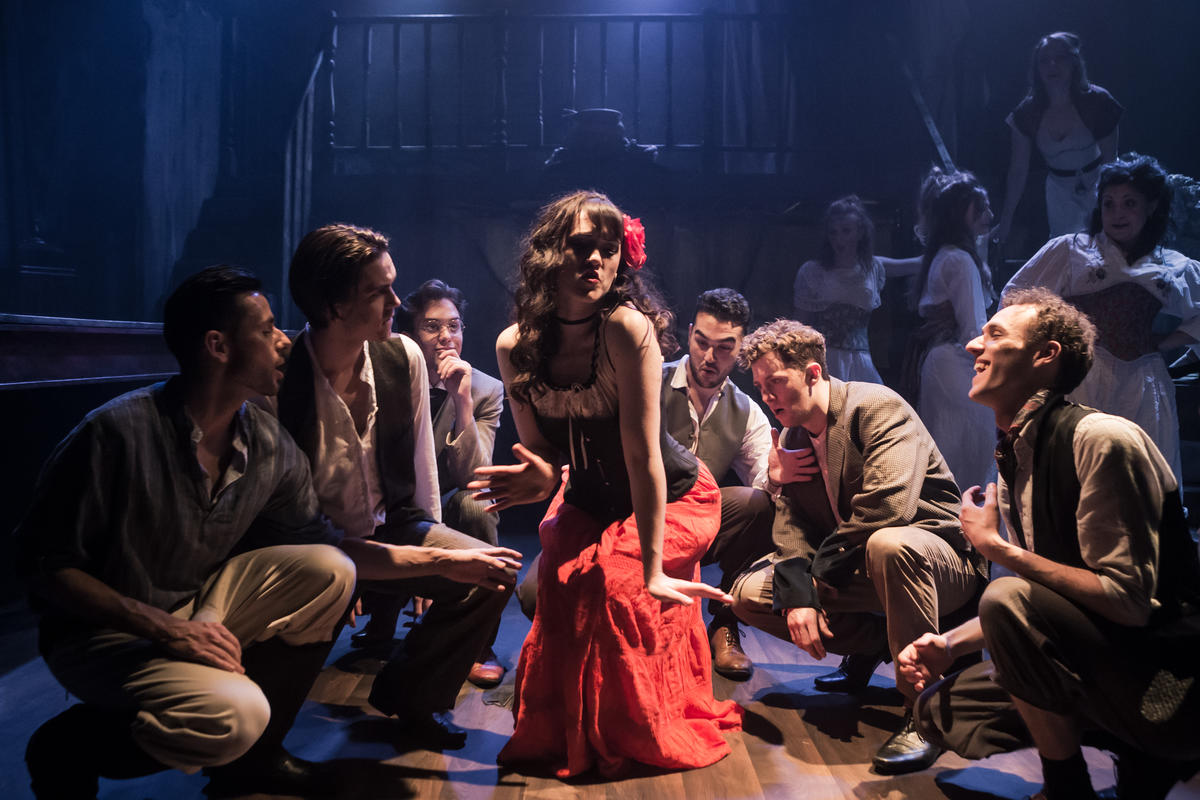 Photograph from Carmen 1808 - lighting design by Ben Jacobs