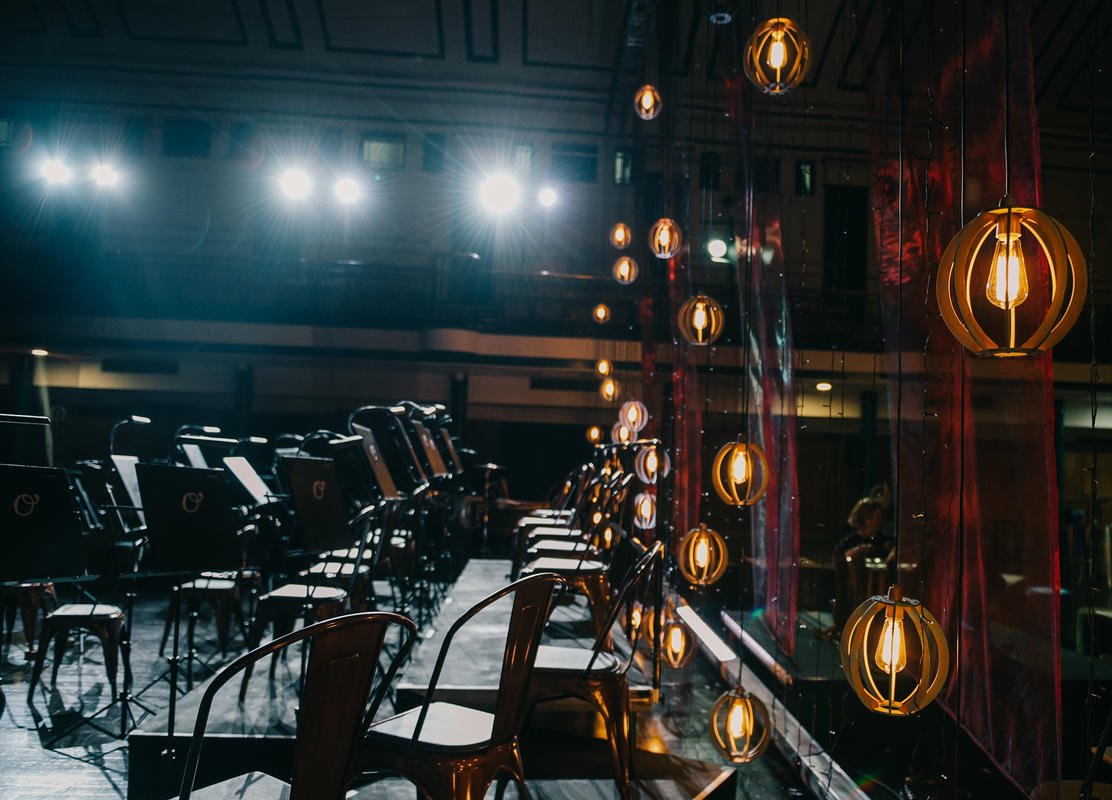 Photograph from Fire in the Evening - lighting design by Katrin Padel