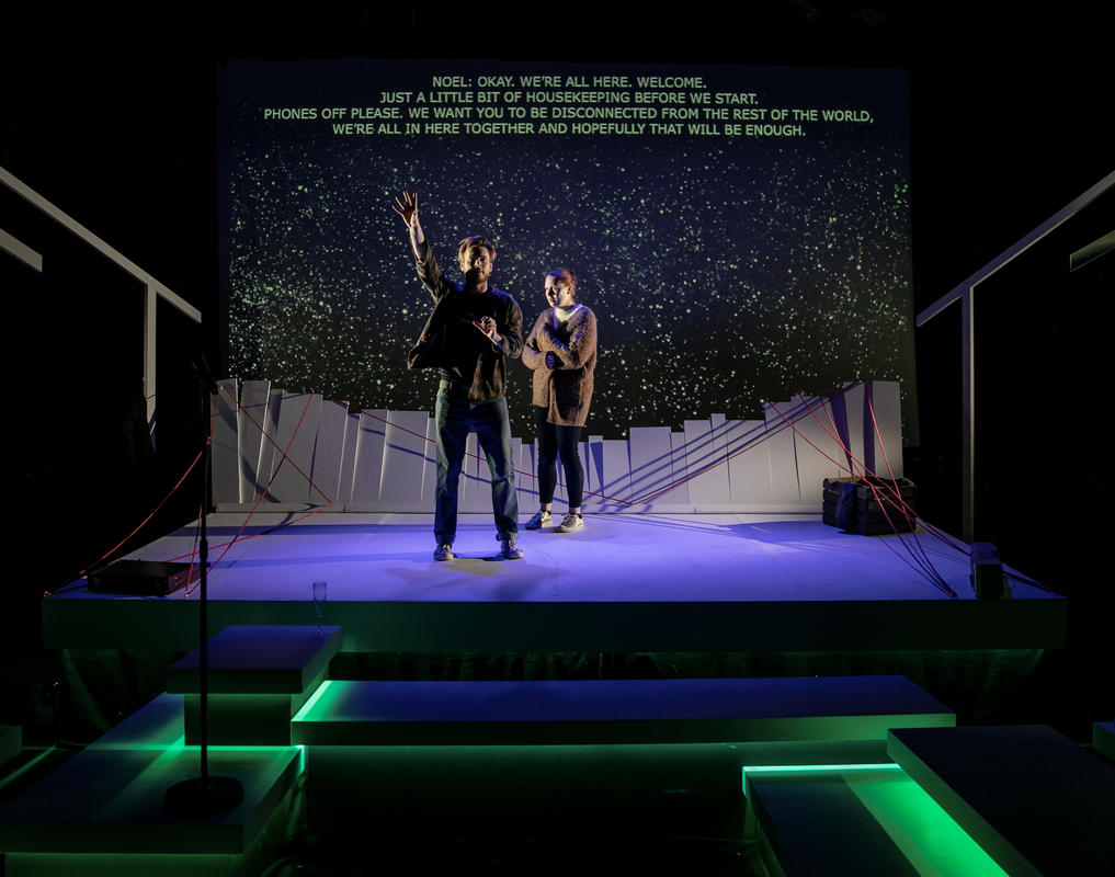 Photograph from ...If We've Never Been To The Moon? - lighting design by Katrin Padel