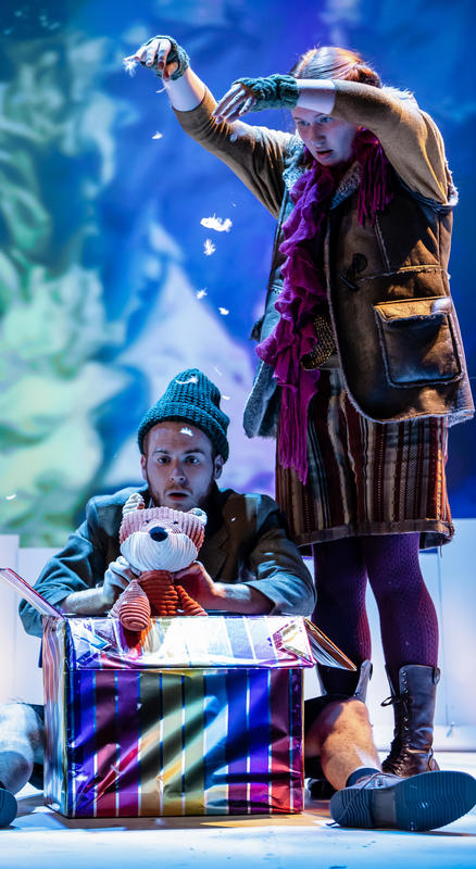 Photograph from The Naughty Fox - lighting design by Katrin Padel